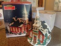 Christmas Village Square - Lighted Church  I have a