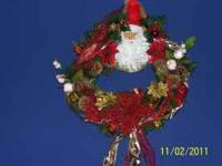 Home made Christmas Wreaths and Center pieces. Many to