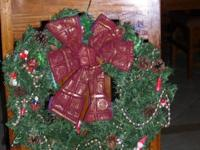 Christmas Wreaths:. 2 Used Wreaths - for sale - Measure