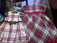 Selling Christmas dresses, sizes 5, 18 months. Also