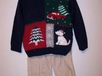 CHRISTMAS TREE/DOGGIE SWEATER SET (3 PC) Sweet Toddler