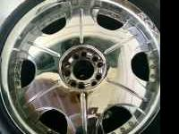 20 inch ROX chrome rims and tires. 6 months old. Must