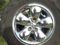 set of 4 Dodge ram Chrome 20's, good used condition,