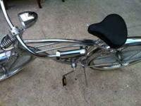 Nice chrome Low Rider beach cruiser. Never been rode