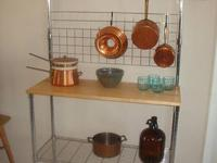 Chrome Industrial Style Kitchen Rack Adjustable Feet -