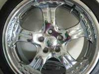 Set of Chrome Niche Rims 5lug with Nitto Tires