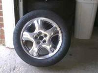 "I have 4 chrome 16"" 5 lug rims and tires. The rims are"