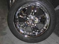 For Sale Chrome Rims & New Assurance Triple Tread Tires