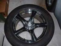I am selling a set of four, like new, chromed rims with