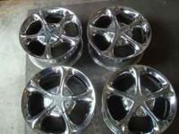 A nice set of 4 MB Motoring chrome wheels that are 17""
