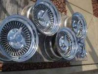 15 x 8 chrome wire (spoke) wheels Multiple bolt