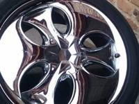 Very nice chrome rims for sell, had to get new ones