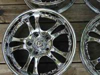 "4 Chrome Rims American Racing AR683 Casino style 16"" x"