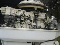 Boat Motor: stored well  45 chrysler  nice condition
