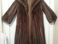 Gorgeous sable/mahogany Mink Coat from premier