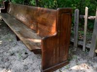 Beautiful antique hardwood church pew for sale - $200 -