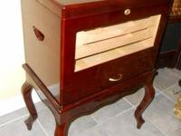 CIGAR HUMIDOR CABINET, THOMPSON CHERRY FREE-STANDING