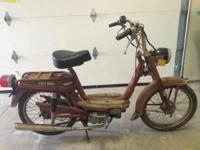 The moped ran last summer. It needs a front brake cable