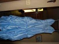 Light blue, Anne Baileys prom dress. Only worn