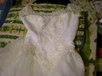 Size 10, White With Satin, Underneath & & Netting,
