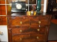 Circa 1840 Walnut Victoriuan chest ... Great initial