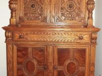 Superior quality circa 1900 Jacobean revival nine piece