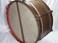 This is an amazing brass field marching snare drum in