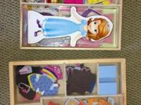Circo 2- wood dolls Magnetic Dress-Up sets- $10.00