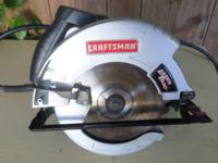 Sears 7 1/4 circular saw laser light guide Good