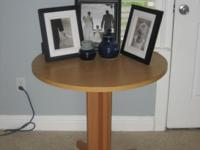 Nice circular side table. $30 Jessica  Location: