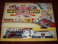 Large G- Scale Emmett Kelly Circus train $250.00.