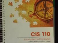 I have the CIS 110 book ONLY for the Introduction to