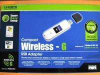 Cisco-Linksys WUSB54GC Compact Wireless-G USB Adapter -