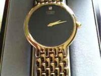 Citizen Quart watch, Gold plated, Diamond embedded in