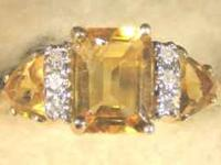 Stock #80 $125.00 This beautiful ring has a citrine