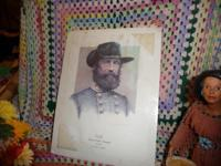 Civil War Print of General Wade Hampton (1818 - 1902 )
