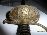 A Sons of Veterans Civil War Era Sword very good