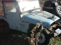 late 50's early 60's Kaiser Willys Jeep, original a v6