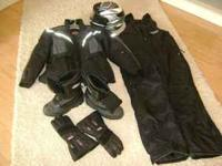 COMPLETE SNOWMOBILE OUTFIT. WORE TWICE. LIKE NEW LARGE