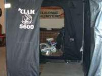 Clam 5600 Ice fishing tent. No rips, tears, or holes.