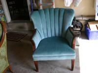 This chair was re-upholstered by Mattoon's Upholstery