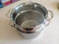 A 6 qt claphalon pasta pot in very good condition