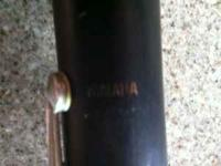 Yamaha clarinet. The clarinet itself is in good