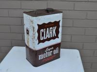 Hard to find 2 gallon Clark Oil cans.   $55 each  $35