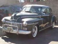 Classic 1948 Dodge Model D24 4 door sedan. Suicide