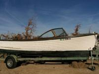 Classic 1964 19' Southcoast Lapstrake wooden boat