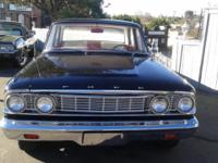 Classic 1964 Ford Fairlane 500. 289 V8 engine, good