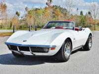 WHITE ON RED HARDTOP CONVERTIBLE 1970 C3 CORVETTE!! LOW