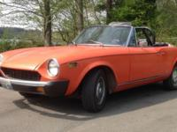 1977 Fiat 124 Spyder convertible, 168,000 miles, 4
