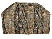 This camouflage BBQ grill cover provides a rugged look